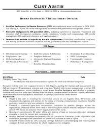 samples team resumepro recruitment officer