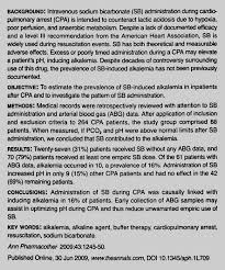 Prevalence of Sodium Bicarbonate–Induced Alkalemia in Cardiopulmonary  Arrest Patients