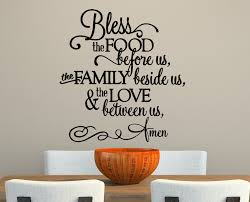 bless the food before us vinyl wall decals for kitchen