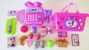 Kitchen Accessory Minnie Mouse Bowtastic Cash Register Shopping Basket Velcro