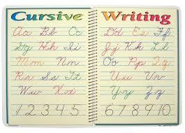 Cursive Writing Placemat M Ruskin Company 032682