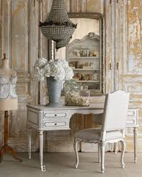 vintage style shabby chic office design. Charming Shabby Chic, French Style Vintage Chic Office Design
