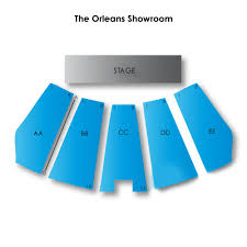 The Orleans Showroom Seating Chart The Orleans Showroom 2019 Seating Chart
