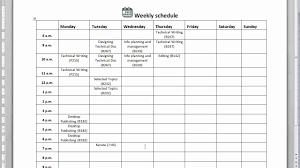 How To Create A Weekly Schedule Youtube