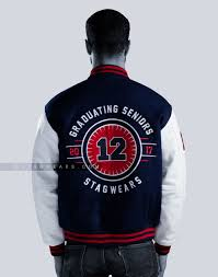 highschool seniors varsity letterman jacket leather