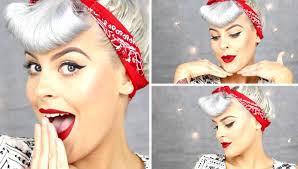 Pin Ups Hair Style easy 1950s pin up hair style tutorial youtube 3404 by wearticles.com