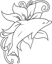 Dolphin Coloring Pages Free To Print Coloringstar
