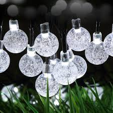 hanging solar patio lights. SALICO Solar Power Lights String Outdoor 20 LEDs Colorful Bright Crystal Ball For Landscape Gardens Homes Wedding Christmas Party (Low Voltage Hanging Patio