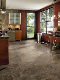 armstrong vinyl tile flooring armstrong luxury vinyl tile lvt dark brown stone look kitchen dining inspiration