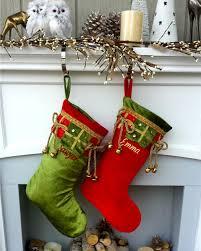 velvet christmas stockings.  Stockings Jingle Bells Velvet Christmas Stocking Red Green Gold Personalized To Stockings T