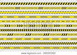 Black And Yellow Stripes Border Creative Police Line Vector Photo Free Trial Bigstock