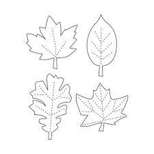 Fall Leaf Pattern Magnificent Printable Leaf Stencils Topic Thanksgiving Leaf Garland Tutorial