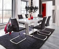 Esstisch Salem 160240x90 Weiss Hochglanz Ausziehbar Möbel Tische