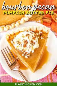 bourbon pecan pumpkin er pie