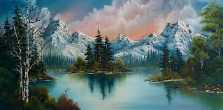 landscape painting autumns glow by chris steele