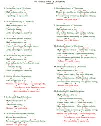Christmas Carols Chords and Lyrics | Bellandcomusic.Com