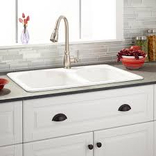white cast iron sink. Contemporary Iron Single Hole  White On Cast Iron Sink L