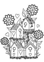 Small Picture Bird House at Flower Garden Coloring Pages Best Place to Color