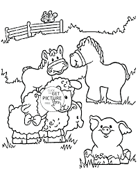 Farm Animals Coloring Pages To Print Farm Tractor Coloring Pages