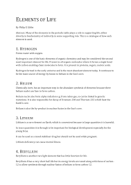 Synthesis Of Light Elements Pdf Elements Of Life