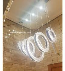 mathline 5 circles crystal led chandelier with remote control cb8337a