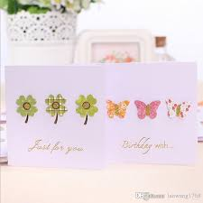 Buisness Greeting Cards 3d Small Stick Decorations Elegant Sweet Greeting Card Envelope