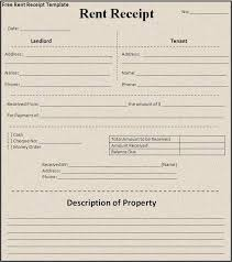 Sample House Rent Receipt Free Word Templates