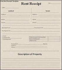 Rent Receipt Form Sample House Rent Receipt Free Word Templates
