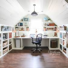 office craft room. Built-in-attic-desk-organization-1 Office Craft Room