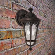 1 light bronze outdoor wall lantern