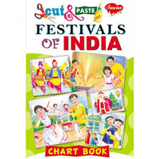 Photo Chart Of Indian Festivals Cut Paste Chart Book Festivals Of India 018 Manoj