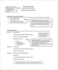 academic resume sample pdf sample academic resume