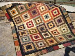 27 best Homespun quilts images on Pinterest | Quilt patterns ... & Handmade Quilt Homespun Squared by PatchworkMountain on Etsy, $195.00 Adamdwight.com