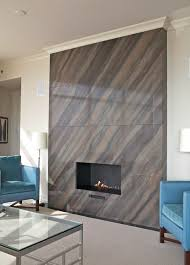 contemporary fireplace tile Astoria Fireplace Contemporary Tile Atlanta By  CR .