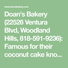 The stumptown actress and late night host went on to gush about the white chocolate coconut cake, which they both get from cruise. Doan S Bakery 22526 Ventura Blvd Woodland Hills 818 591 9236 Famous For Their Coconut Cake Known As The Cruise Cake Bec Bakery Coconut Cake Woodland Hills