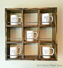 coffee mug wall hanger here is an easy mug holder for only a few dollars its coffee mug wall hanger