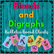 Consonant Blend Chart Printable Blends Digraph Bulletin Board Charts