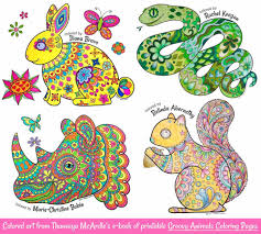 Fox is very smart animal. Groovy Animals Coloring Pages Fun Printable E Book Of 20 Detailed Animals To Color Art Is Fun