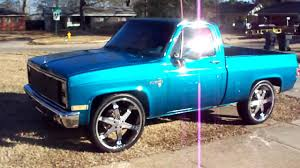 86 SHORTBED CHEVY ON 26'S - YouTube