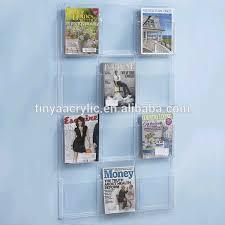 Wholesale Magazine Holders China 100 Pocket Acrylic Wall Mounted Magazine Rack Manufacturers 45