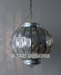 outdoor moroccan lighting. Moroccan Lantern Metalic Silver Tin Pendant : Lamps \u0026 Lanterns Outdoor Tazi Designs Lighting N