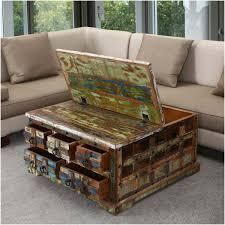 Plaid Living Room Furniture Plaid Reclaimed Wood 36 Sq 5 Drawer Coffee Table Chest