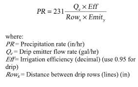 Irrigation Gpm Chart Drip Line Rate Calculator