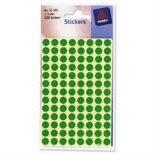 Avery Round Green Labels Diameter 8mm 10x560 Labels 32 302