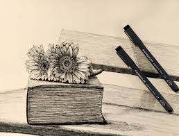 how to draw any flower with pen ink