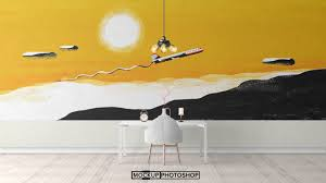 Small Picture Free PSD Wall Stickers Mockups