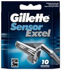 Купить <b>Сменные кассеты Gillette SensorExcel</b>, 10 шт. по низкой ...