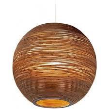 sun recycled slight ceiling pendant light large