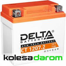 "Мото аккумулятор ""<b>DELTA MOTO</b>"" CT 1207.2 AGM YTZ7S (7Ач о/п ..."