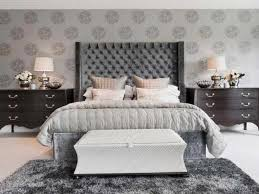 grey upholstered headboard king  trendy interior or image of